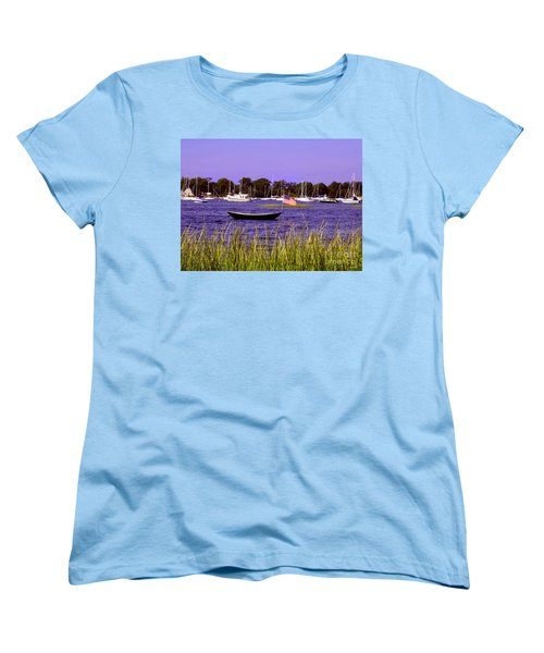 Freedom Bristol Harbor Rhode Island Women's T-Shirt (Standard Cut)