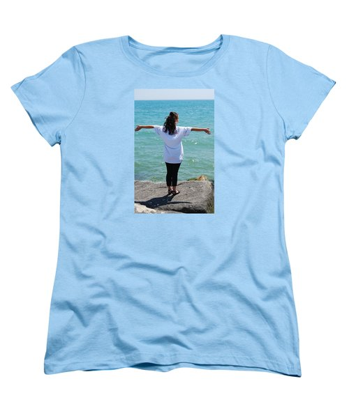 Women's T-Shirt (Standard Cut) featuring the photograph Freedom by Ramona Whiteaker