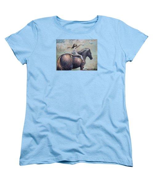 Freedom Women's T-Shirt (Standard Cut) by Vali Irina Ciobanu