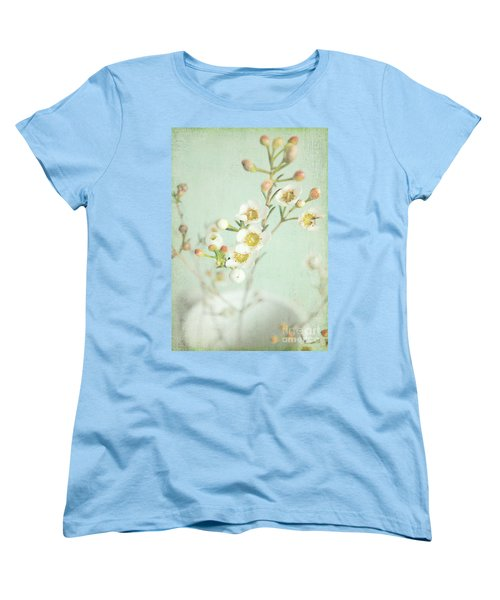 Freesia Blossom Women's T-Shirt (Standard Cut) by Lyn Randle