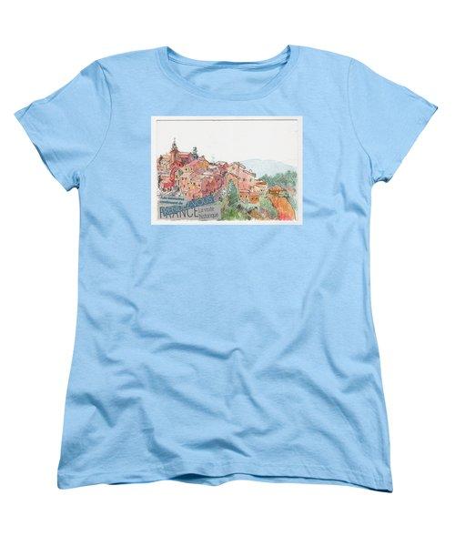 French Hill Top Village Women's T-Shirt (Standard Cut)