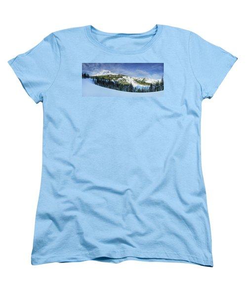 Women's T-Shirt (Standard Cut) featuring the photograph Fresh Snow At Mount Rainier by Dan Mihai