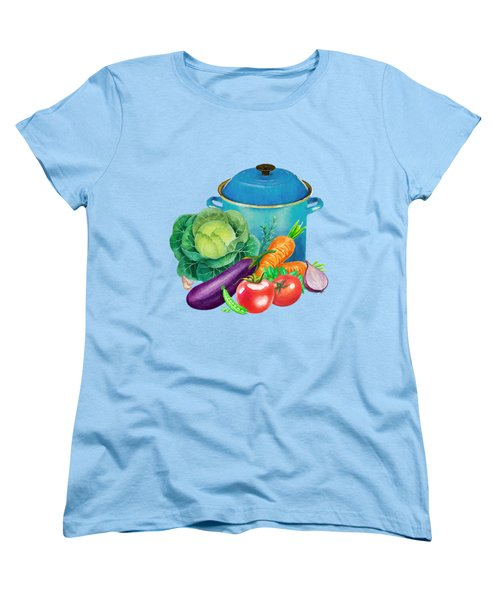 Fresh Vegetable Bounty Women's T-Shirt (Standard Cut) by Little Bunny Sunshine