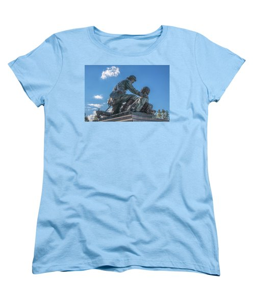 Friend To Friend Monument Gettysburg Women's T-Shirt (Standard Cut) by Randy Steele