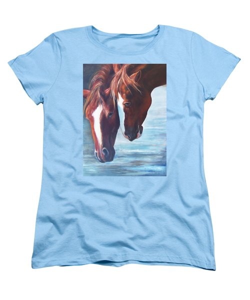 Women's T-Shirt (Standard Cut) featuring the painting Friends For Life by Karen Kennedy Chatham