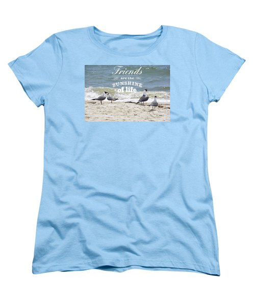 Friends In Life Women's T-Shirt (Standard Cut) by Jan Amiss Photography