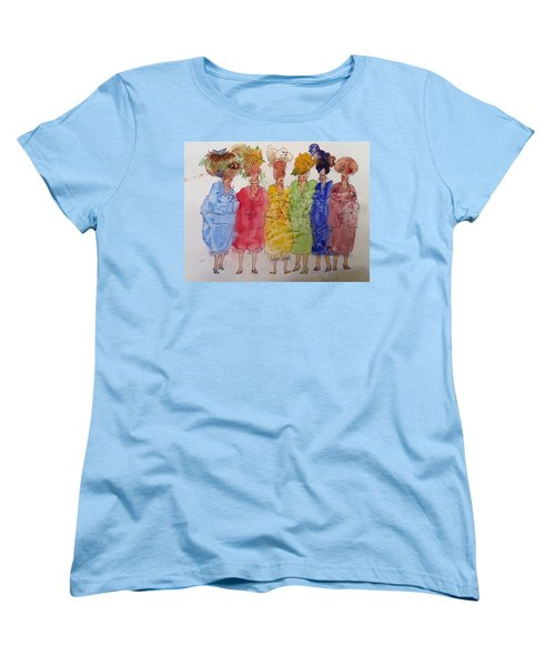 The Crazy Hat Society Women's T-Shirt (Standard Cut) by Marilyn Jacobson