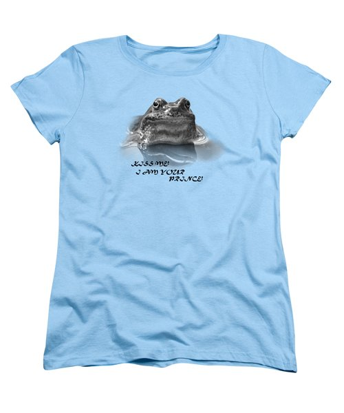 Women's T-Shirt (Standard Cut) featuring the photograph Frog The Prince by Jivko Nakev