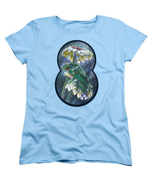 Frogs- Optimized For Shirts And Bags Women's T-Shirt (Standard Cut) by Michael Volpicelli