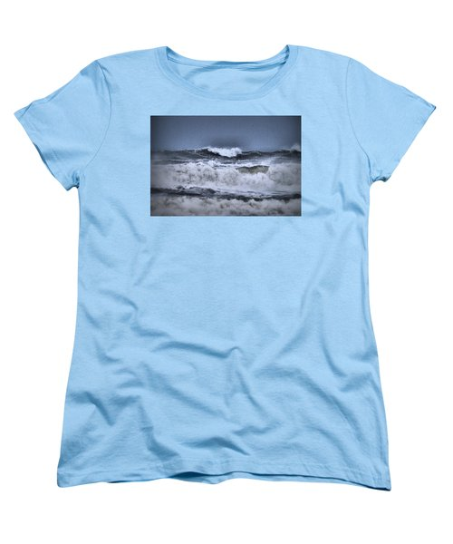 Women's T-Shirt (Standard Cut) featuring the photograph Frolicsome Waves by Jeff Swan