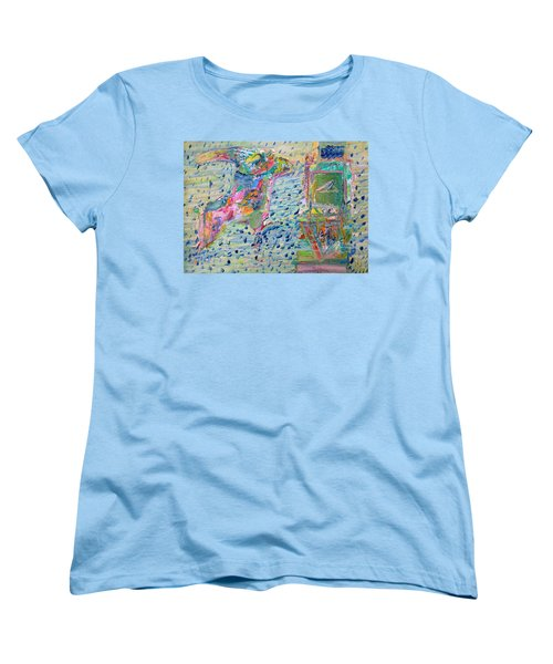 Women's T-Shirt (Standard Cut) featuring the painting From The Altered City by Fabrizio Cassetta