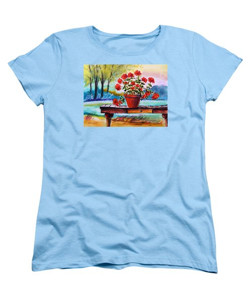 Women's T-Shirt (Standard Cut) featuring the painting From The Potting Shed by John Williams