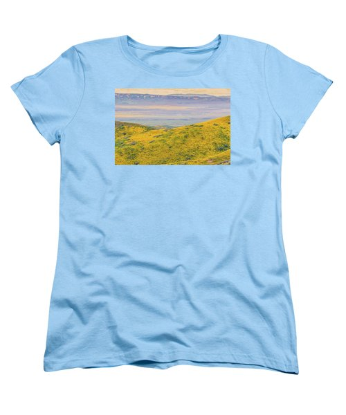 From The Temblor Range To The Caliente Range Women's T-Shirt (Standard Cut) by Marc Crumpler