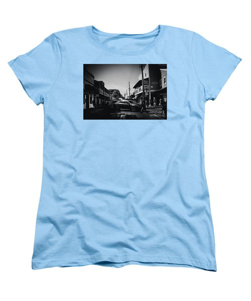 Women's T-Shirt (Standard Cut) featuring the photograph Front Street  by Sharon Mau