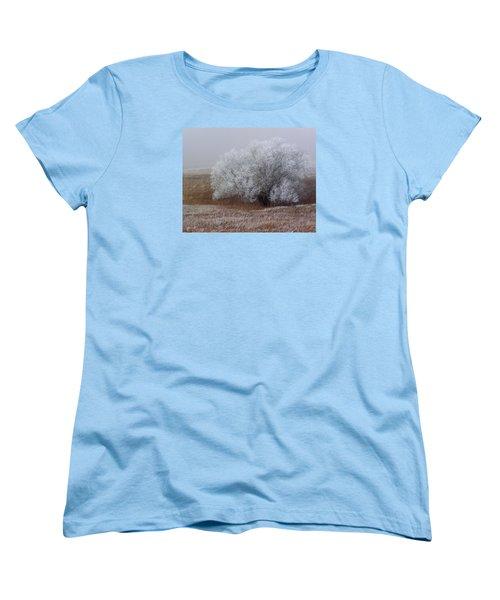 Frost And Fog Women's T-Shirt (Standard Cut) by Alana Thrower