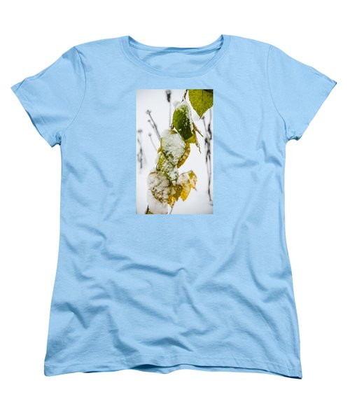 Frosted Green And Yellow Women's T-Shirt (Standard Cut) by Deborah Smolinske