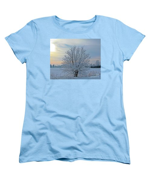 Frosted Sunrise Women's T-Shirt (Standard Cut) by Heather King