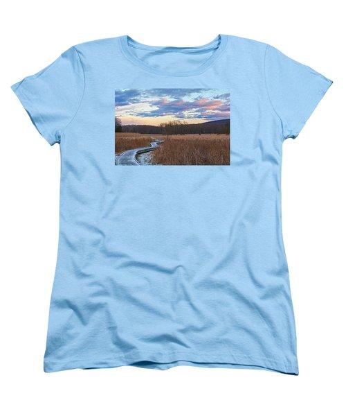 Frosty Blue Trail Women's T-Shirt (Standard Cut) by Angelo Marcialis