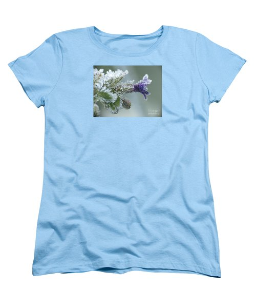 Frosty Flower Women's T-Shirt (Standard Cut) by Odon Czintos