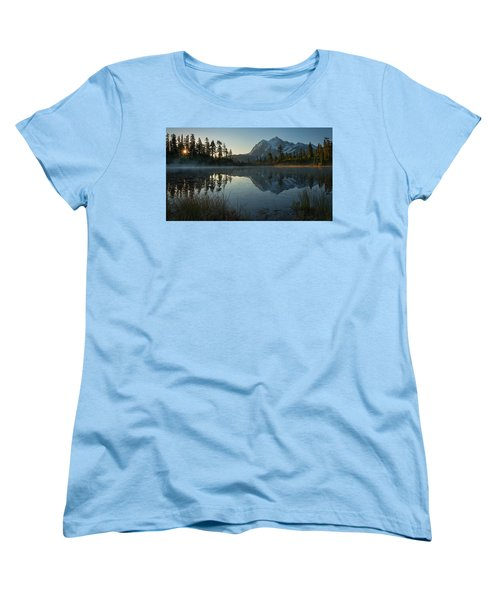 Women's T-Shirt (Standard Cut) featuring the photograph Frosty Picture Lake by Dan Mihai
