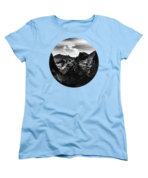 Frozen, Black And White Women's T-Shirt (Standard Cut) by Adam Morsa