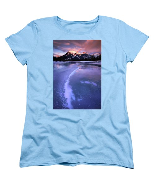 Frozen Sunrise Women's T-Shirt (Standard Cut) by Dan Jurak