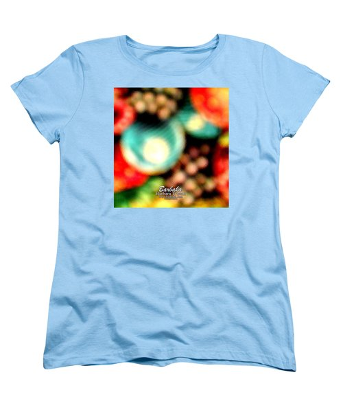 Women's T-Shirt (Standard Cut) featuring the photograph Fruit Sticker by Barbara Tristan
