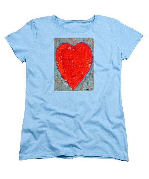 Full Heart Women's T-Shirt (Standard Cut) by Diana Bursztein
