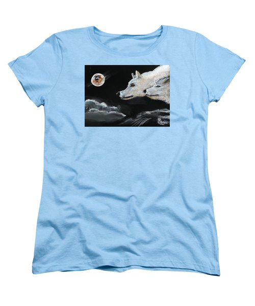 Full Moon Women's T-Shirt (Standard Cut) by Carole Robins