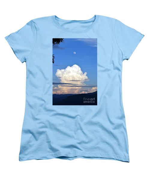 Full Moon Rising Over Blue Ridge Women's T-Shirt (Standard Cut) by Gary Smith