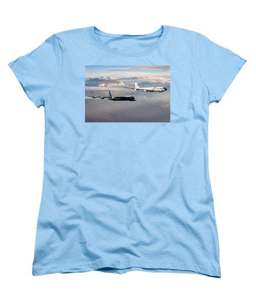 Women's T-Shirt (Standard Cut) featuring the digital art Full Service by Peter Chilelli