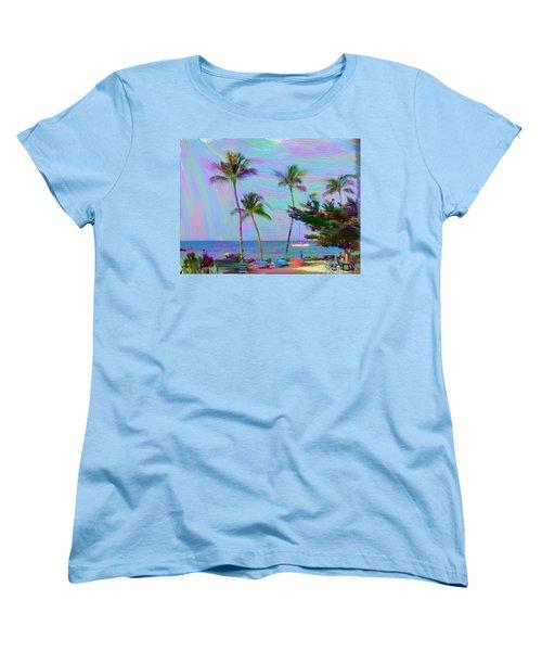 Fun At The Beach Women's T-Shirt (Standard Cut) by Karen Nicholson