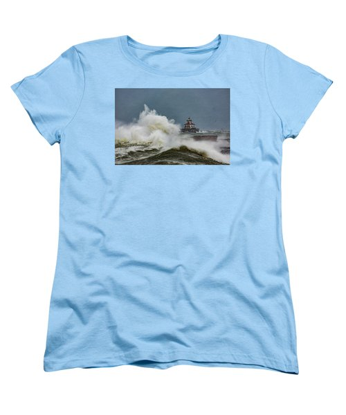 Women's T-Shirt (Standard Cut) featuring the photograph Fury On The Lake by Everet Regal