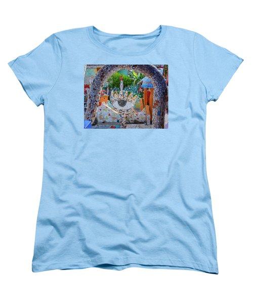 Women's T-Shirt (Standard Cut) featuring the photograph Fusterlandia Havana Cuba by Joan Carroll