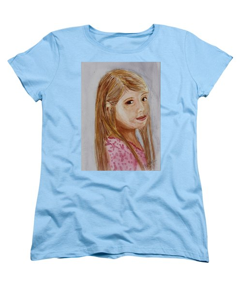Women's T-Shirt (Standard Cut) featuring the painting Gabriella by Donna Walsh