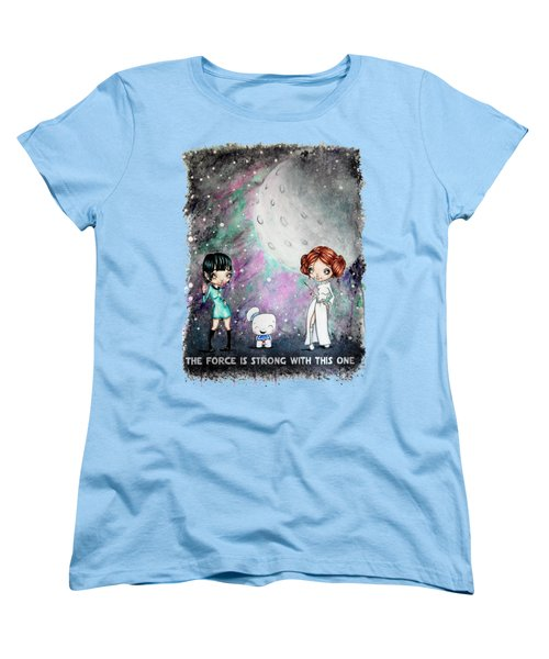 Women's T-Shirt (Standard Cut) featuring the painting Galaxy Cosplay by Lizzy Love