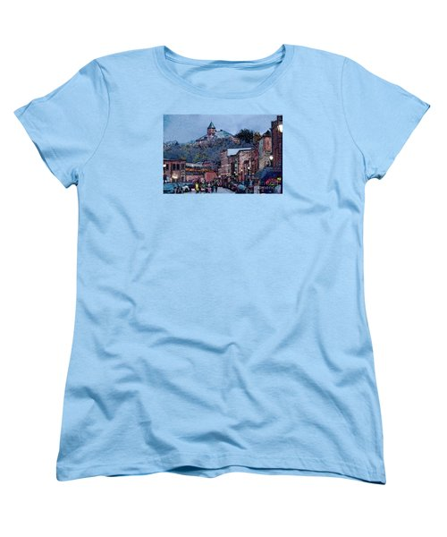 Women's T-Shirt (Standard Cut) featuring the digital art Galena Illinois by David Blank