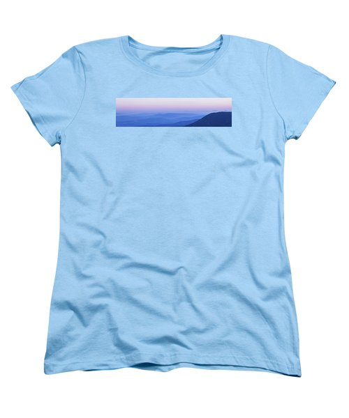 Galilee Mountains Sunset Women's T-Shirt (Standard Cut) by Yoel Koskas