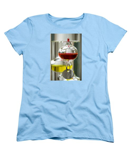 Women's T-Shirt (Standard Cut) featuring the photograph Galileo Thermometer by Jeremy Lavender Photography
