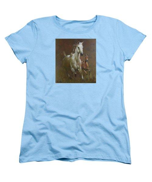 Gallop In The Eyelash Of The Morning Women's T-Shirt (Standard Cut) by Vali Irina Ciobanu