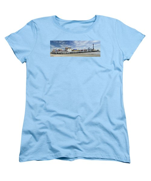Galveston Pleasure Pier Women's T-Shirt (Standard Cut) by Allen Sheffield