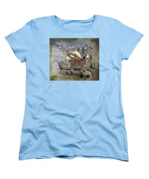 Women's T-Shirt (Standard Cut) featuring the digital art Game Of Bones by Rhonda Strickland