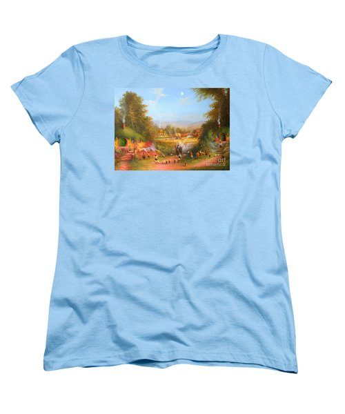 Gandalf's Return Fireworks In The Shire. Women's T-Shirt (Standard Cut) by Joe  Gilronan