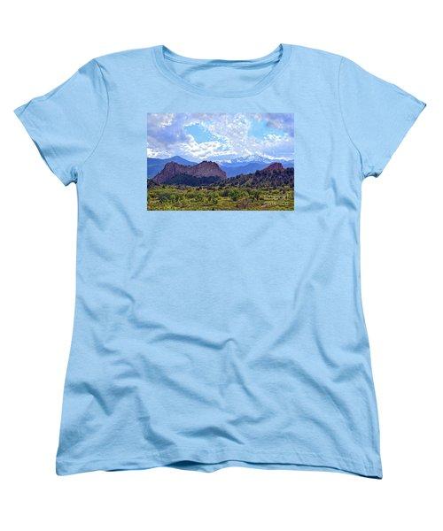 Garden Of The Gods Women's T-Shirt (Standard Cut) by Catherine Sherman