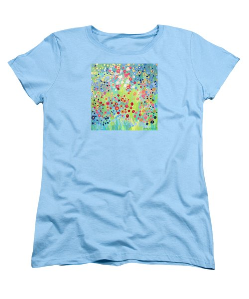 Women's T-Shirt (Standard Cut) featuring the painting Garden's Delight by Stacey Zimmerman