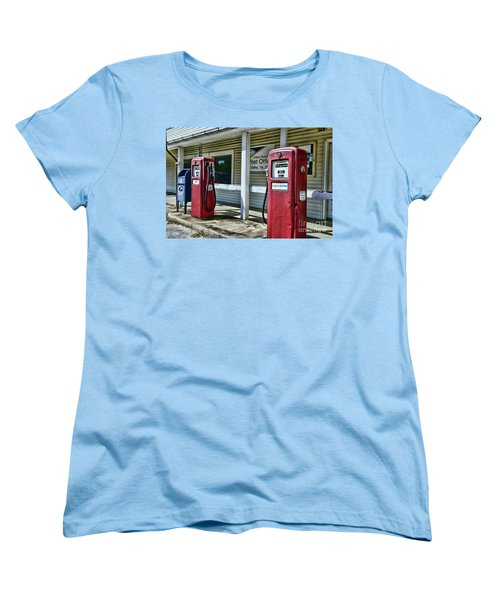 Women's T-Shirt (Standard Cut) featuring the photograph Gas And Mail 1 by Paul Ward