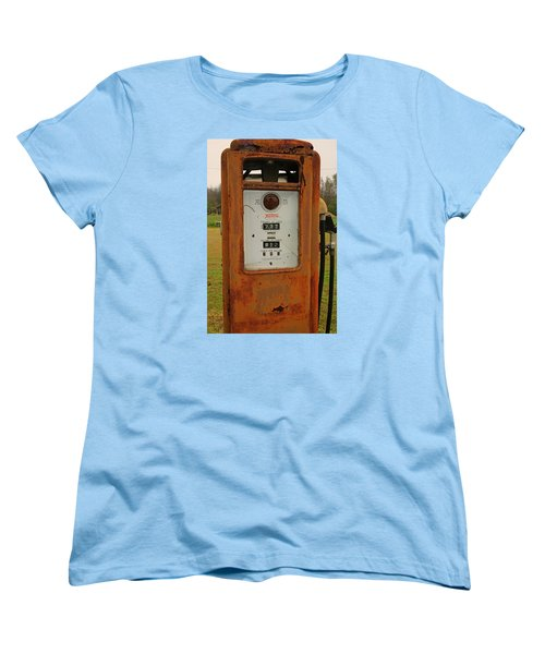 Gasoline Pump Women's T-Shirt (Standard Cut) by Ronald Olivier