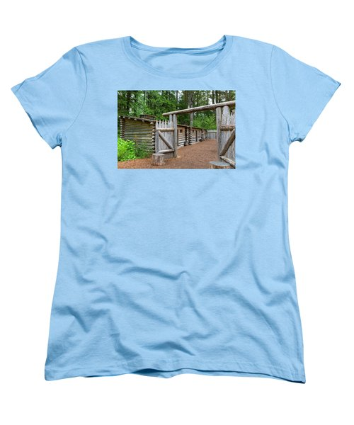 Gate To Log Camp At Fort Clatsop Women's T-Shirt (Standard Fit)