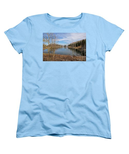 Gates Lake Women's T-Shirt (Standard Cut) by Cindy Murphy - NightVisions