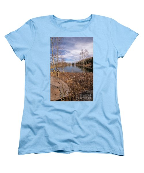 Gates Lake Ut Women's T-Shirt (Standard Cut) by Cindy Murphy - NightVisions
